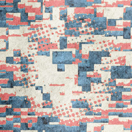 retro vintage abstract patchwork background  on grungy paper Stock Photo - 143380458