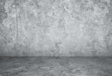 empty room with plaster wall, grey background