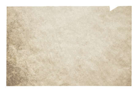 old paper isolated on white background with clipping path Zdjęcie Seryjne - 157463258