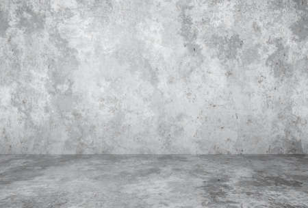 empty room with plaster wall, gray background Zdjęcie Seryjne - 157855651