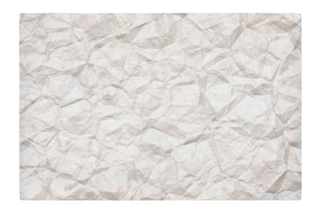 old blank crumpled paper with copyspace isolated on white background Zdjęcie Seryjne - 157855660