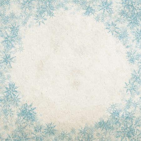 blue winter christmas background with snowflakes Zdjęcie Seryjne