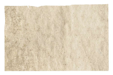 old paper isolated on white background with clipping path Zdjęcie Seryjne