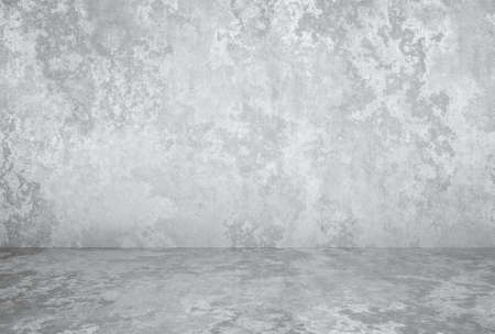 empty room with plaster wall, gray background