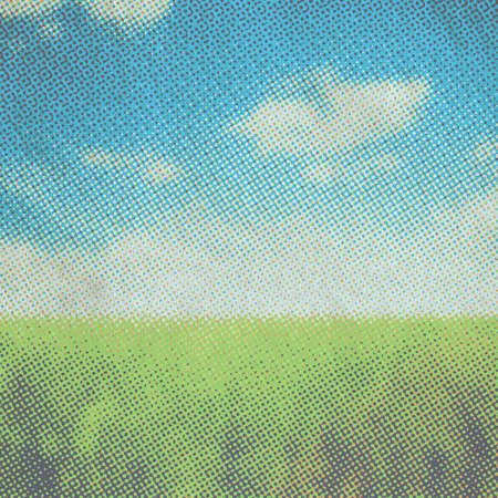old illustration, raster fields background Banque d'images - 167007287