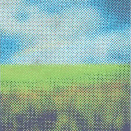 old illustration, raster fields background