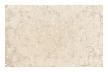 old paper isolated on white background with clipping path 免版税图像