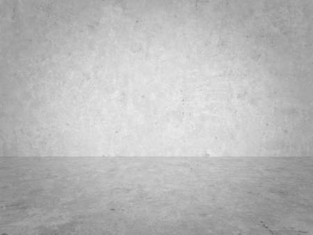 empty gray interior with concrete wall, plaster background