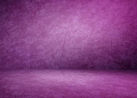 purple concrete interior, plaster background