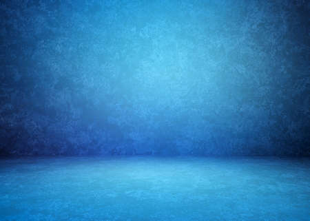 blue concrete interior, plaster background