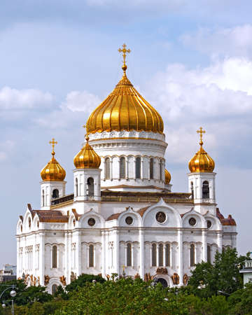 bass relief: Cathedral of Christ the Savior in Moscow, Russia