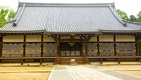 ninnaji: Golden Hall of Ninnaji temple in Kyoto, Japan  Beautiful wooden temple