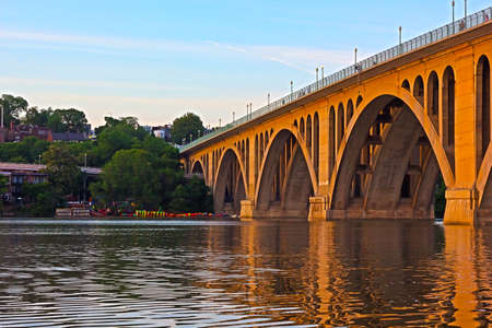 Key Bridge at sunset  Francis Scott Key Bridge connects Washington D C with Virginia