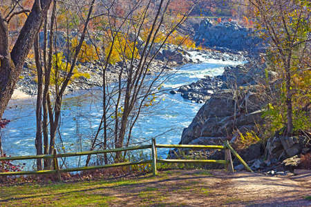 overlook: Scenic overlook on Potomac River  Stock Photo