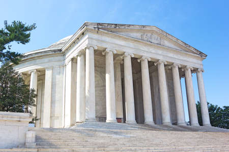founding fathers: Thomas Jefferson Memorial in Washington DC, USA. Monument dedicated to one of the most important of the American Founding Fathers.
