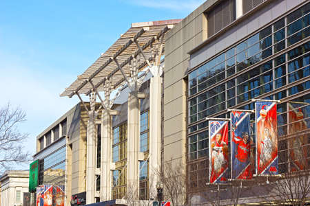 initiatives: WASHINGTON DC, USA � MARCH 31, 2016: The Verizon Center on March 31, 2016. The building is a sport and entertainment arena in US capital serviced many notable events and charity initiatives. Editorial