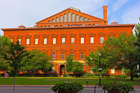National Building Museum in Washington DC, USA. Italian Renaissance Revival architecture of the museum building.