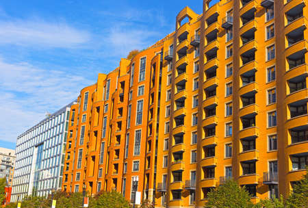 Modern buildings of Washington DC, USA. Apartment buildings of US capital on a sunny morning. Фото со стока