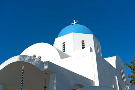 Orthodox Church on Santorini Island, Greece.