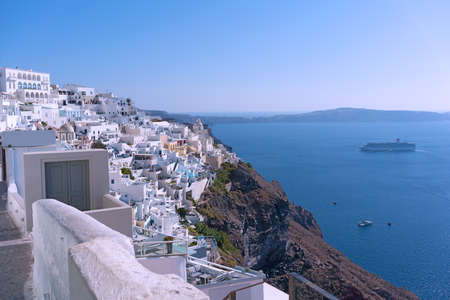 Santorini Island in the morning, Greece Фото со стока