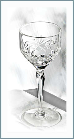 tabel: Crystal glass Stock Photo