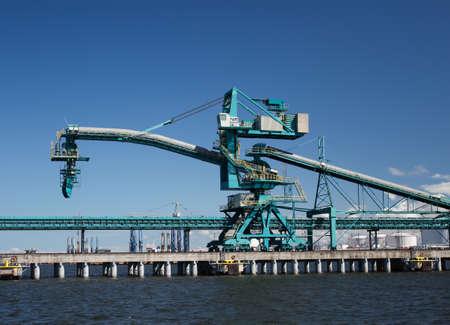 commercial docks: Commercial Docks Stock Photo