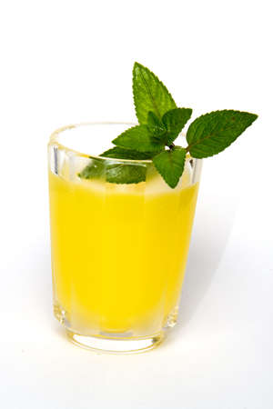 Cold summer drink with mint