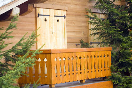 swiss chalet balcony