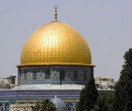 Golden dome mosque, Jerusalem, Israel photo