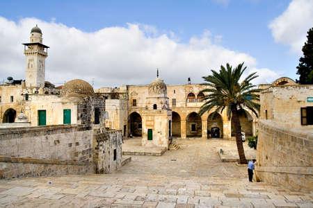 temple mount: Jerusalem old city view