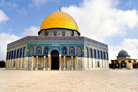 Amazing view of the Golden Dome Mosque (Jerusalem, Israel) photo