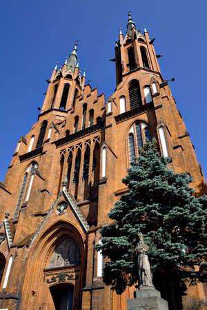 rundale: La cattedrale gotica Kociuszki Rynek - Bialystok, Polonia