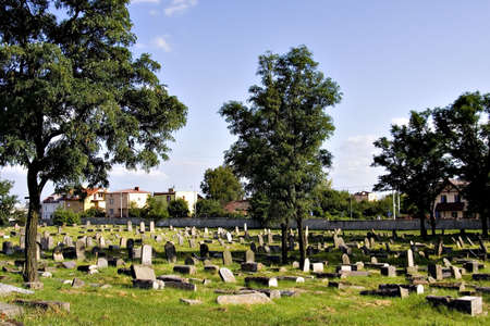 final thoughts: Old Jewish cemetery (Bialystok, Poland) Stock Photo
