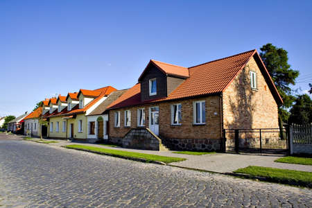 Old typical Polish houses Stock Photo