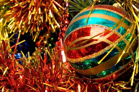 Christmas ornament decorations on tree photo