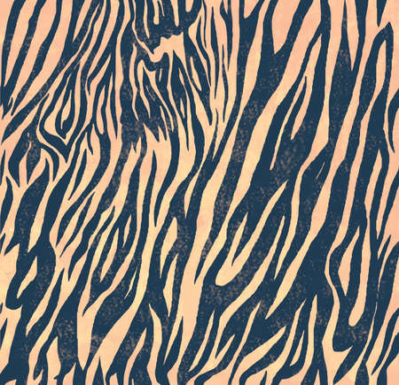 Seamless vintage style pattern with zebra print.