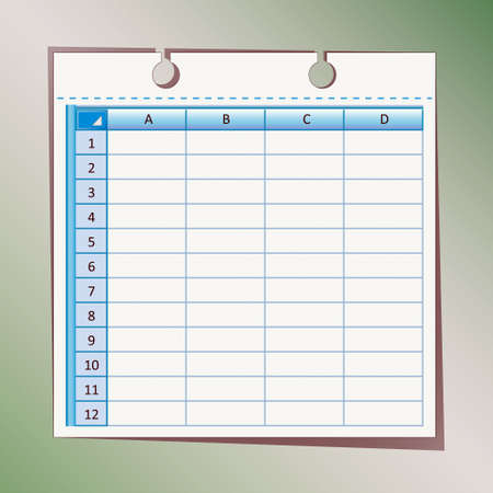 doings: Sheet paper label table text info mind Illustration