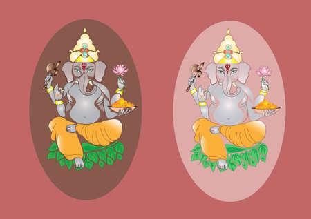 hindu god: Colorful dios hind� - elefante Ganesha, India