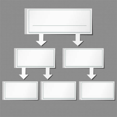 Set vector info graphic paper of gray background. Illustration