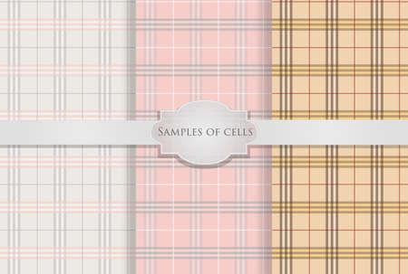 variants: 3 variants plaid wallpaper seamless
