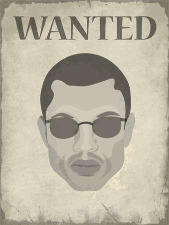 人のイメージで指名手配のポスター