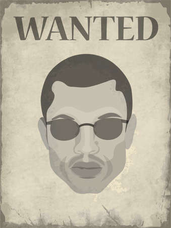 Wanted poster with the image of a person