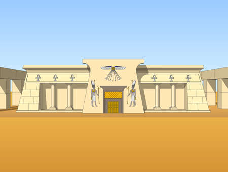 cheops: Building, built in the Egyptian style. Object, isolate.