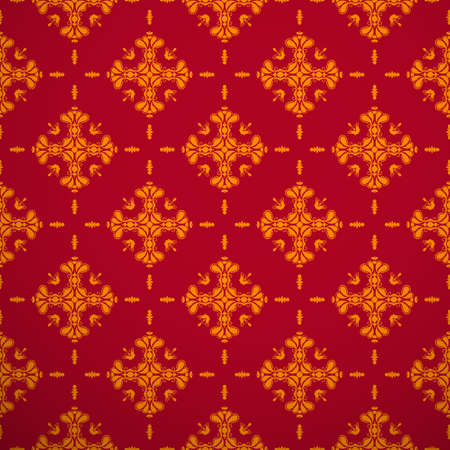 red wallpaper: Seamless texture new web background red and gold color. Illustration