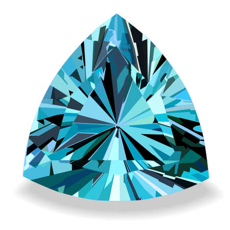 topaz: Blue topaz with highlights of light and shadow Illustration
