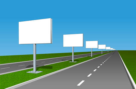 advertising board: Billboard advertising board poster placard banner set