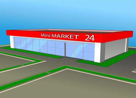 The market shop facade retail trade.