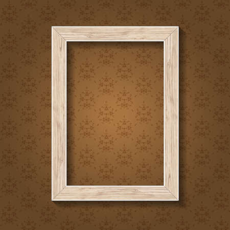 workpiece: Wood tree frame white for portrait or photo background seamless pattern.