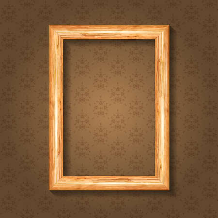 workpiece: Wood tree frame for portrait or photo background seamless Wallpaper.