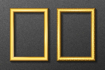 designation: Gold frame for portrait on a dark background in a classic style.